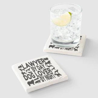 Dog Lover Lawyer Stone Beverage Coaster