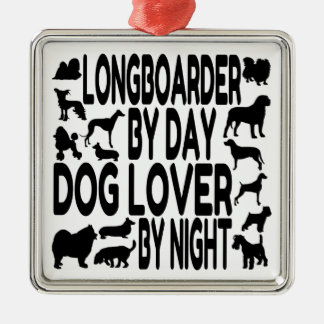 Dog Lover Longboarder Christmas Ornament