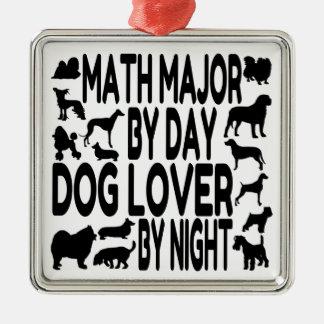 Dog Lover Math Major Christmas Ornament