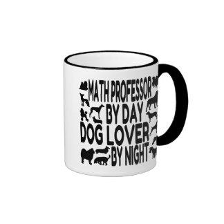 Dog Lover Math Professor Ringer Mug