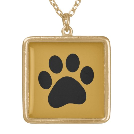 Dog lover necklace with paw print