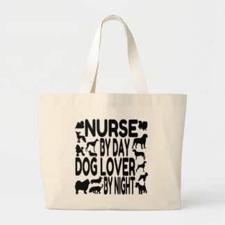 Dog Lover Nurse Large Tote Bag