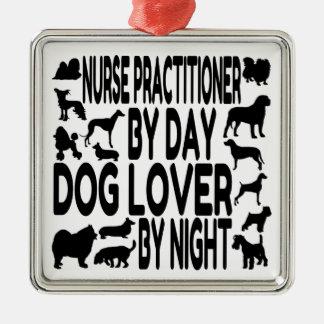 Dog Lover Nurse Practitioner Silver-Colored Square Decoration