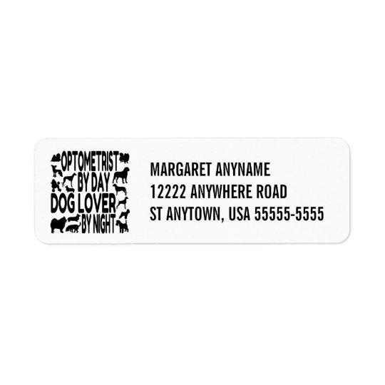 Dog Lover Optometrist Return Address Label