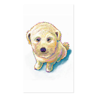 Dog lover painting original art whoodle wheaten business card templates
