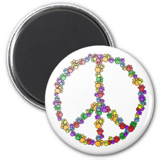 Dog Lover Peace 6 Cm Round Magnet