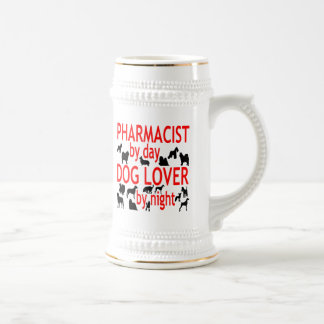 Dog Lover Pharmacist in Red Beer Stein