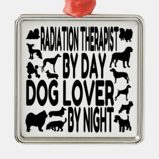 Dog Lover Radiation Therapist Silver-Colored Square Decoration