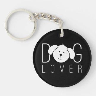 """""""Dog Lover"""" Round Keychain"""