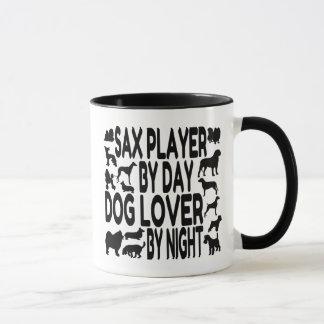 Dog Lover Sax Player Mug