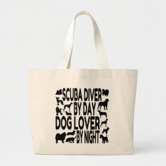 Dog Lover Scuba Diver Canvas Bags