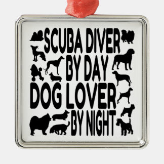 Dog Lover Scuba Diver Christmas Ornament