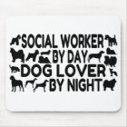 Dog Lover Social Worker Mouse Mat
