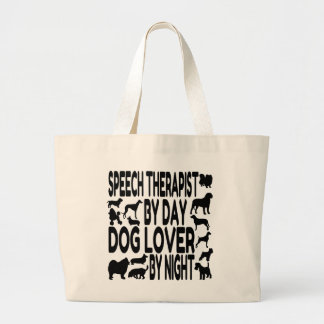 Dog Lover Speech Therapist Large Tote Bag