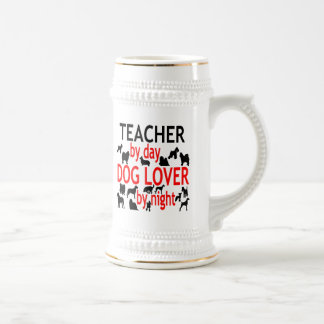 Dog Lover Teacher in Red Beer Stein