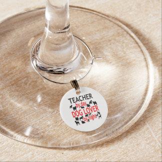 Dog Lover Teacher in Red Wine Charm