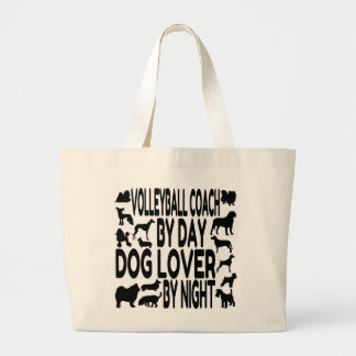 Dog Lover Volleyball Coach Large Tote Bag