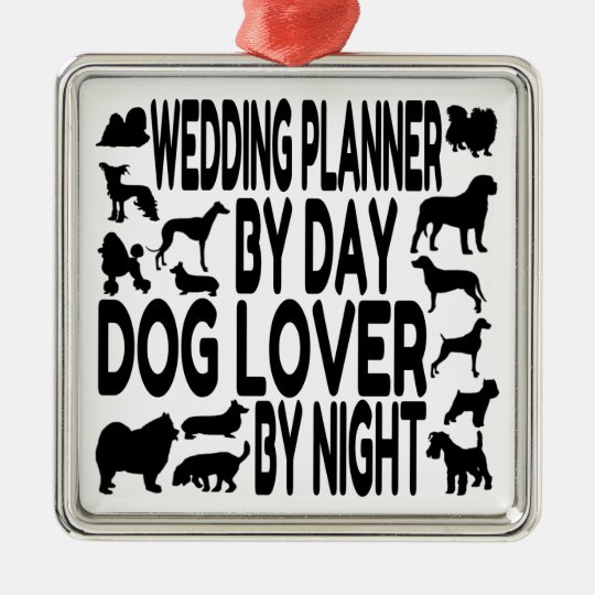 Dog Lover Wedding Planner Christmas Ornament