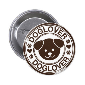 Dog Lover with puppy face Pin