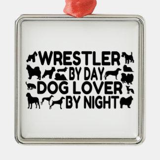 Dog Lover Wrestler Christmas Ornament