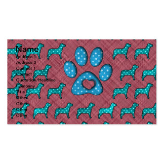 Dog Lovers Cute Polka Dots Pack Of Standard Business Cards