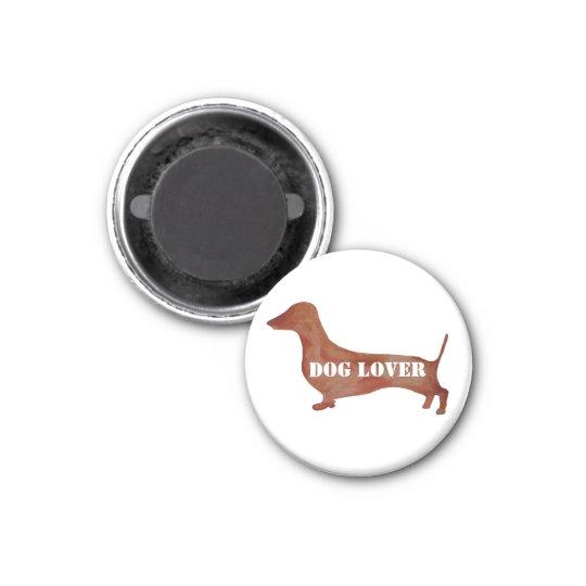 Dog Lovers Dachshund Small, 3.2 Cm Round Magnet