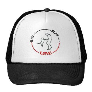 DOG LOVER'S DESIGN - EAT --- PLAY --- LOVE CAP