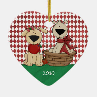 Dog Lovers First Christmas Together Personalized Christmas Ornament