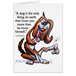 Dog Lovers Funny Cartoon Greeting Card With Quote