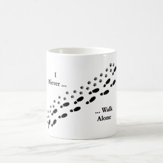 Dog Lover's I Never Walk Alone Pawprint Mug