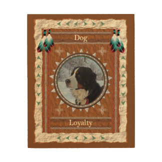 Dog  -Loyalty- Wood Canvas