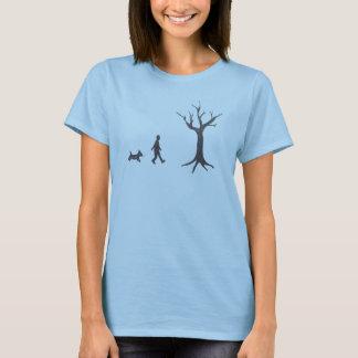 Dog, Man, Tree T-Shirt