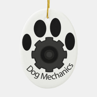 Dog Mechanics gear Christmas Ornament