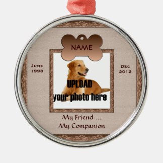 Dog Memorial Brown Tones Christmas Ornament