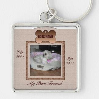 Dog Memorial Brown Tones Keychains
