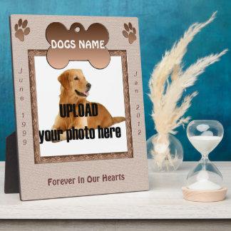 Dog Memorial Brown Tones Plaque