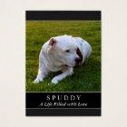 Dog Memorial Card - Black - Don't Grieve Poem