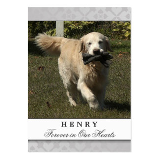 Dog Memorial Card Light Gray Do Not Mourn Pack Of Chubby Business Cards