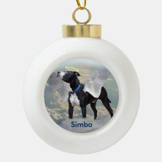 Dog Memorial Custom Ceramic Ball Ornament