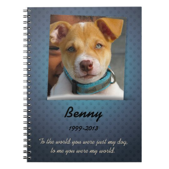 Dog Memorial Custom Photo Journal