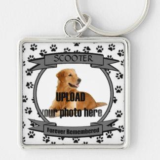 Dog Memorial Forever Remembered Key Ring