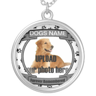 Dog Memorial Forever Remembered Silver Plated Necklace