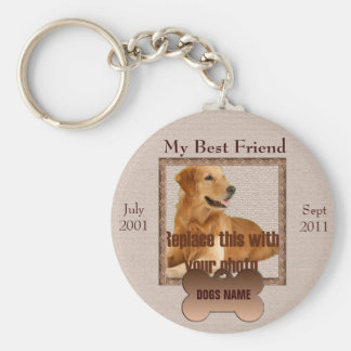 Dog Memorial in Beautiful Brown Tones Key Ring