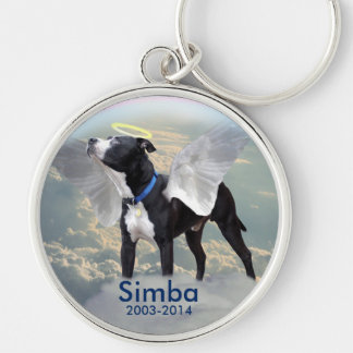 "Dog Memorial Large (2.125"") Premium Round Keychain"