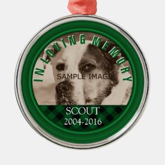 Dog Memorial Photo Name In Loving Memory Pet Loss Christmas Ornament