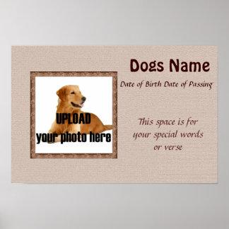 Dog Memorial Print - Brown Tones