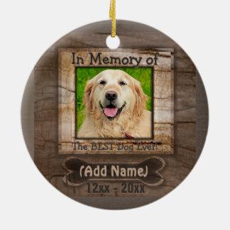 Dog Memorial Round Ceramic Decoration