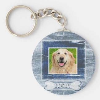 Dog Memorial with Bone Key Ring