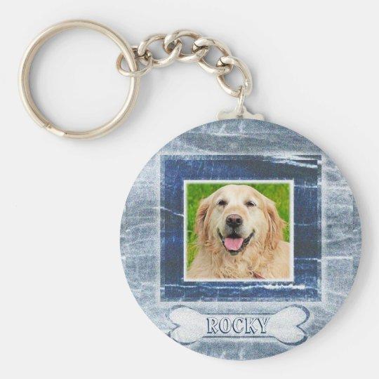 Dog Memorial with Bone Key Ring