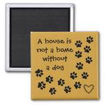 dog message fridge art square magnet